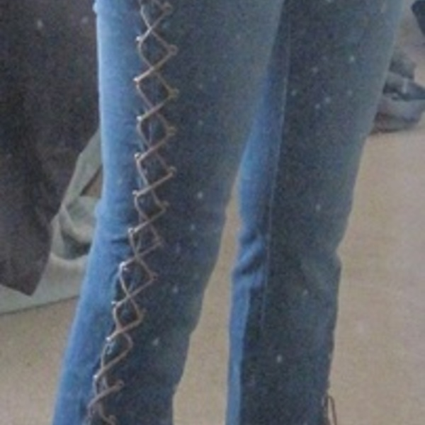 Lace-up jeans size 1 is being swapped online for free