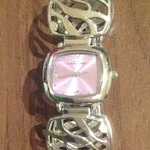 NV London Bracelet/ bangle fashion style watch, silver and pink.  is being swapped online for free
