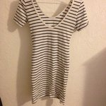 White And Black Striped Fitted Dress (Forever 21) is being swapped online for free