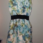 blue floral dress is being swapped online for free