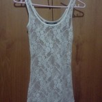 White lace singlet top is being swapped online for free