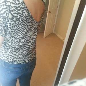 express cheetah print top is being swapped online for free