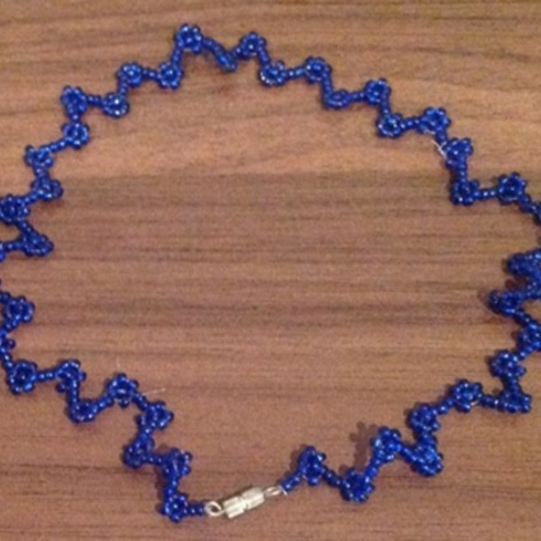 Cobalt Blue Choker Necklace - One Size. is being swapped online for free