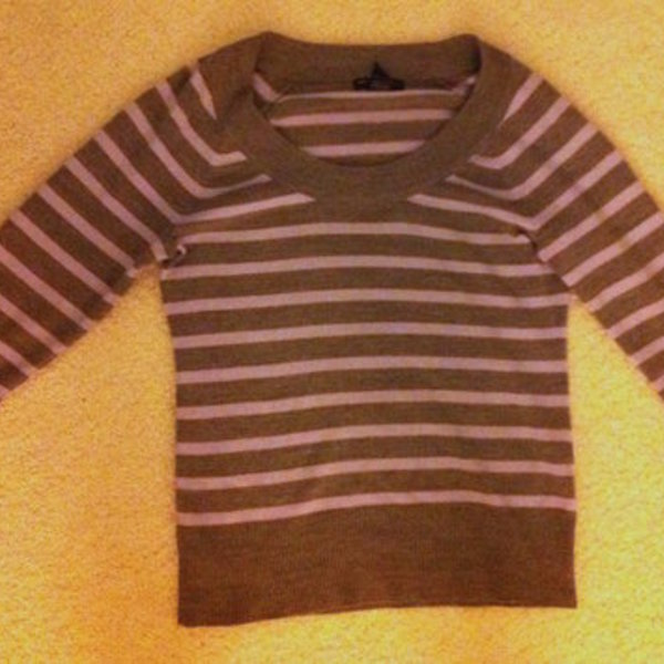 Green and Grey Striped Sweater/Shirt is being swapped online for free