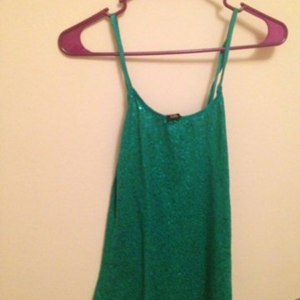 Green Sequined Cami is being swapped online for free
