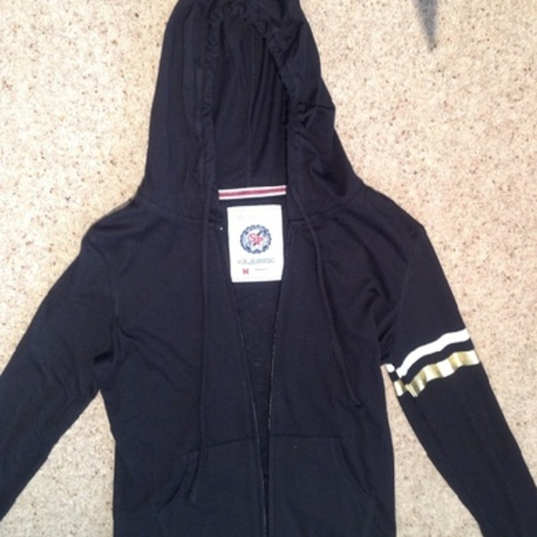 SP Classic Black & Gold Hoodie/ Jacket - Size UK 8. is being swapped online for free