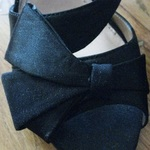 Black Heels with Bow (8.5) is being swapped online for free