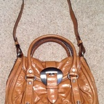 FRANCESCO BIASIA Vintage Tan leather Satchel - medium size. is being swapped online for free