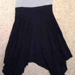 Black/ Grey Asymmetric Hem Style Dress - Size UK 12. is being swapped online for free