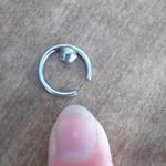 large naval/nipple ring is being swapped online for free