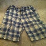 Men's plaid shorts is being swapped online for free