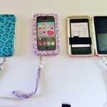 NWT Smartphone Wristlet- Purple Cheetah is being swapped online for free