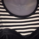 Bodycon striped satin dress sz m is being swapped online for free