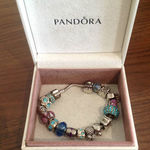 Genuine Pandora Sterling Silver 18 Charm Bracelet, 925 hallmark.  is being swapped online for free