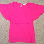 Miss Selfridge Pink Cape Top - Size UK 6.  is being swapped online for free