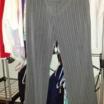 grey pinstriped pants is being swapped online for free