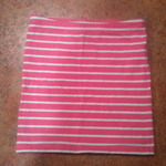 Forever 21 pink striped body con skirt is being swapped online for free
