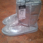 Silver sequined ugg like boots  is being swapped online for free
