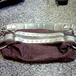 CUTE BROWN & GOLD KATHY VAN ZEALAND PURSE is being swapped online for free