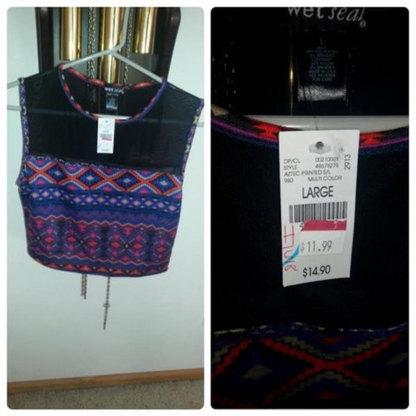 NWT size Large Wet Seal crop top:) is being swapped online for free