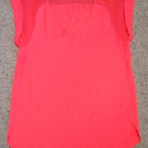 River Island Neon Orange Top - Size UK 6. is being swapped online for free