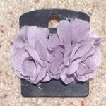 George Lilac Flower Fabric Earrings.  is being swapped online for free