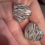 zebra heart earrings is being swapped online for free