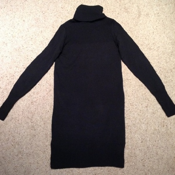 Black Polo Jumper Knit Dress - Size UK 8. is being swapped online for free