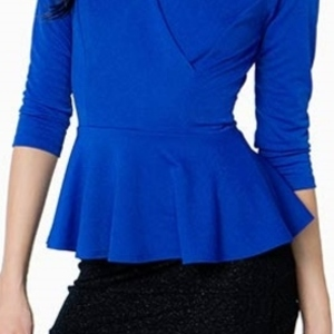 New blue Peplum top is being swapped online for free