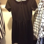 Black Leopard Collar Dress SMALL is being swapped online for free