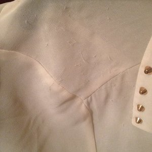 Cream studded collar chiffon blouse is being swapped online for free