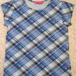 Boohoo Blue & Grey Check Top - Size UK 6. is being swapped online for free