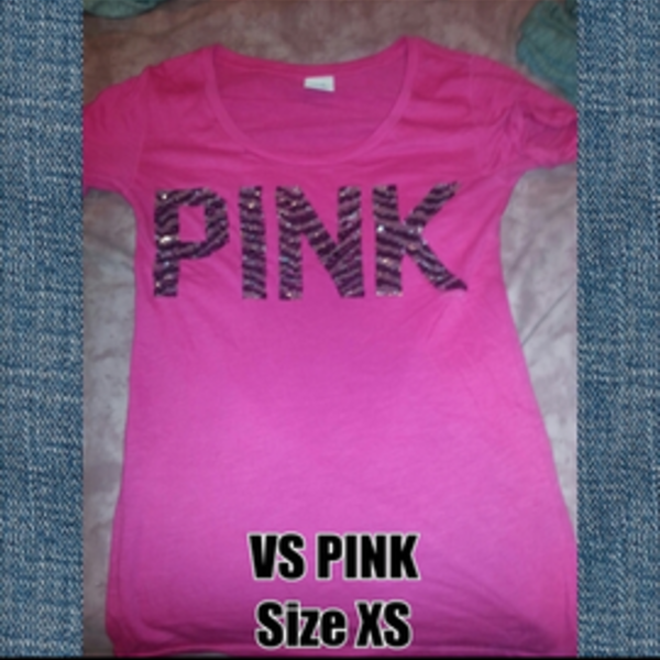 vs pink zebra sequins tee is being swapped online for free