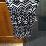 NWOT chevron peplum dress is being swapped online for free