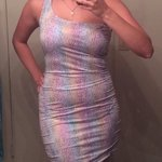 Rainbow star bodycon dress Charlotte russe nwt sz m is being swapped online for free