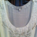Charlotte Russe white beaded top size S is being swapped online for free
