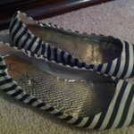 Jessica Simpson blue and white striped flats - size 8.5 is being swapped online for free