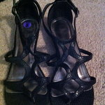 Matisse black snake-print sandals - size 8 is being swapped online for free