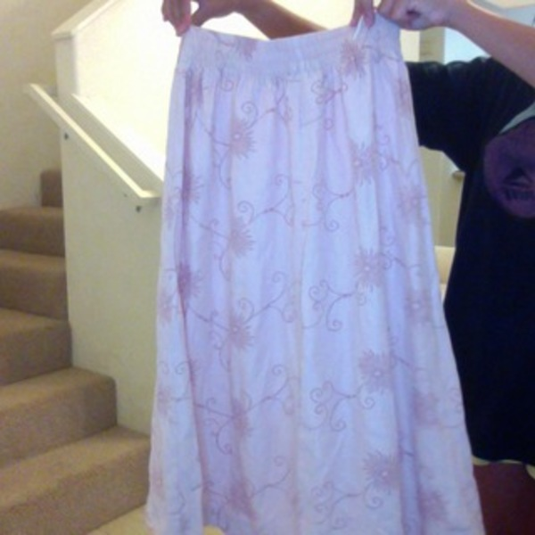 Pretty pink boho skirt is being swapped online for free