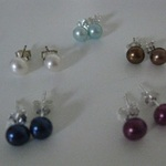 Freshwater Pearl Earrings (set of 5) is being swapped online for free