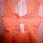 Elegant Peach/orange Corset top S is being swapped online for free