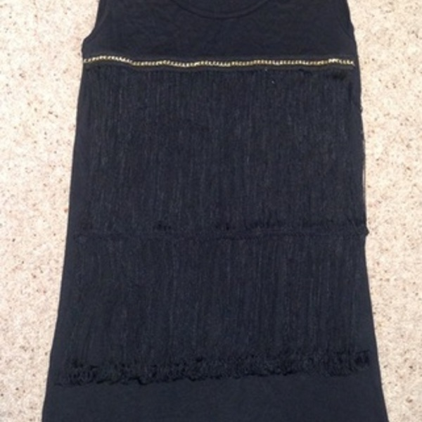 Black Tassel/ Fringed Blouse - Size UK 8.  is being swapped online for free