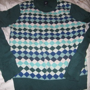 GAP Knit Sweater - Small in great green, teal and blue is being swapped online for free