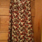 Floral Print Vintage Maxi Dress is being swapped online for free