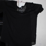 black sheer blouse xl is being swapped online for free