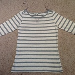 Papaya Striped Jersey/ Knit Top - UK Size 8, grey and white. is being swapped online for free
