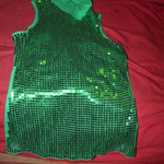 green glittey tank sz xl is being swapped online for free