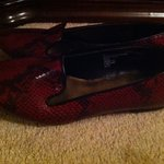 red snake print loafers - size 8.5 is being swapped online for free