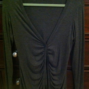 Forever 21 gray cardigan size medium is being swapped online for free