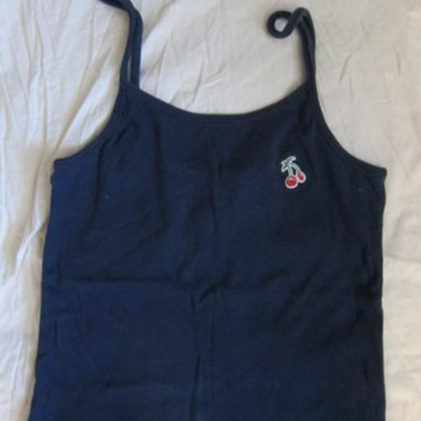 Navy blue cherry tank XS is being swapped online for free